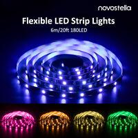 Smart RGB 20ft 5050 LED Strip Lights Kit RF Remote Dimmable Color Changing 12V