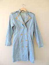 Vintage Monique Fashions Studded Long Jean Jacket Dress Size 9/10 Medium