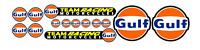 Adesivi logo Gulf pegatinas autocollants stickers retro vintage race moto