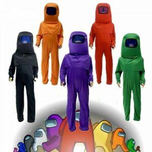 Boys Girls Kids Among Us Jumpsuit Head Decor Costume Fancy Suit **UK FAST POST**