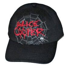Alice Cooper-Embroidered Spider Web Logo- OSFA Strap Back Baseball Cap