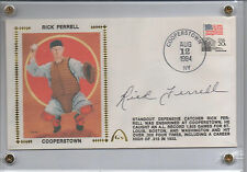 "GATEWAY RICK FERRELL SIGNED ""COOPERSTOWN"" CACHET"