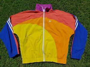 Rare Sold Out Adidas Originals Pride Trefoil Off-Center Full Zip Jacket Unisex S