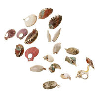 Gold Gilding Conch Sea Shell Beads Pendant Charms for Jewelry Making