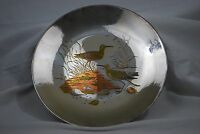Reed & Barton Plate Audubon Collection Damascene Sandpiper Silver Plated