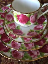 Royal Albert Old English Rose 5pc Dinner Set Cup Saucer Salad Bread Butter Plate