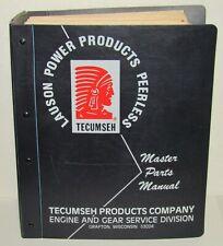Vintage Tecumseh Lauson Power Products Peerless Master Parts Manual Binder