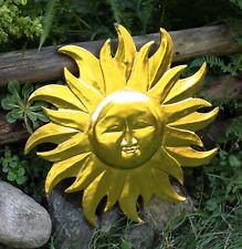 GOLDENE SONNE Wandschmuck Dekosonne Holz Sonnen Gesicht Deko Holzsonne Wandsonne