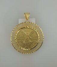50 pesos Mexican coin pendant Centenario 24kGold Plated  versache stile frame