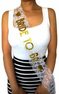 Fabric Party Sash With Glittery/Plain Bride/Mummy to Be Inscription Gift Sashes