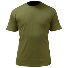 MILITARY COTTON T-SHIRT ARMY CADET OLIVE GREEN TEE BRITISH OG COMBAT TOP S-XXL