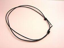 Black or Brown Genuine LEATHER Adjustable KNOT Sliding CHOKER NECKLACE 2/2.5/3MM