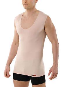 Albert Kreuz Herren Unterhemd Ohne Arm Business Unterhemd mit extra tiefem V