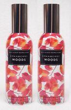 2 Bath & Body Works CRANBERRY WOODS Mini Room Spray Perfume Air Freshener