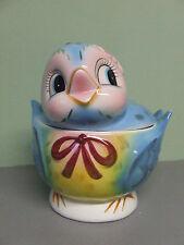 Vintage Lefton Blue Bird Cookie Jar (Japan, signed, #7169)