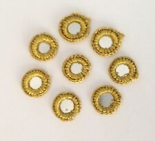 30 Gold Crochet Mirror Rims & Silver Foils 2 Sew or Glue 4 Card Craft Quilting