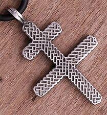 Cruzado Knight Order of Templar Patriarchal GOD Cross of Lorraine Pewter Pendant