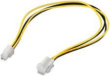 4 Pin Mainboard P4 Stromkabel Verlängerung Molex Stecker > Buchse 4 polig 0,37 m