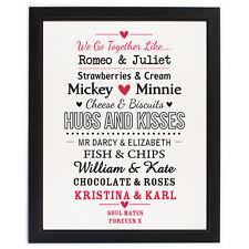 Personalizado impreso Funky Compromiso Boda De Día de San Valentín señor y la Sra. Regalo Único