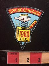 Vtg 1960 JACK-IN-THE-BOX Toy CIC Central Indiana Council Boy Scout Patch C76M
