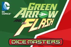DC Dice Masters Green Arrow and the Flash Single FOIL Card + Die
