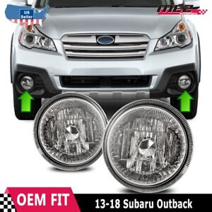 For Subaru Outback 13-19 Bumper Driving Fog lights Lamps Replacement Pair Clear