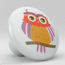 Owl WHIMSICAL Ceramic Knobs Pulls Kitchen Drawer Cabinet Vanity Closet 455
