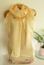 Chiffon Stola Schal Hijab Kleid Bolero Abendkleid Tuch Hochzeit Seide hm 90x180