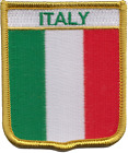 Italy Flag Shield Embroidered Patch Badge LAST FEW