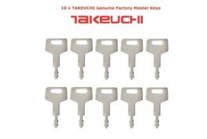 10 x TAKEUCHI Plant Excavator Digger Dumper Genuine Master Keys
