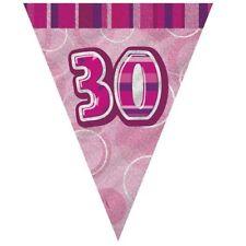 Hembra 21ST Cumpleaños Pancarta Fiesta empavesado número 4 conjuntos Bland y oro