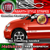 Fiat 500s 595 Abarth Side Stripes Graphics Decals Stickers Vinyls any colours