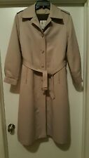 London Fog Ladies 10 Petitie Beige Maincoat Weatherwear Lined