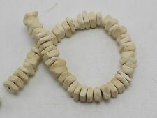 """2 Strands of 16"""" White Natural Coconut Square Chips Beads 5X8mm"""