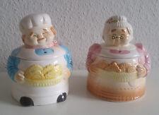 Keksdosen Oma & Opa Keramik Vintage Vorratsdosen 2 Stück Bäcker & Bäckerin