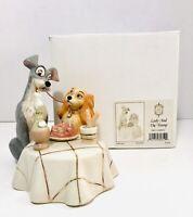 Disney Lenox Classics LASY AND THE TRAMP Spaghetti Scene In Box