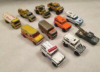 Vintage Majorette Die Cast Vehicle Bundle Toy Truck Bundle Made in France 1970s