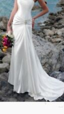 Satin beach wedding dress size 8