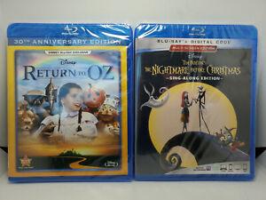 Return To Oz (Blu-ray) + The Nightmare Before Christmas (Blu-ray+Digital) DISNEY