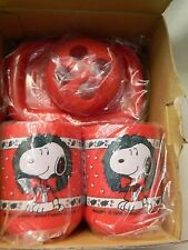 NIB 1991 SNOOPY'S CHRISTMAS 3-PIECE BATH SET - SHARE THE TOY COLLECTION