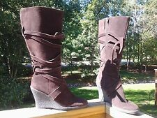 ENZO ANGIOLINI Rosalie Brown suede boots sz 8.5 M