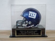 Football Mini Helmet Display Case With A Philip Rivers Chargers Nameplate