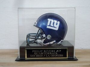 Philip Rivers Football Mini Helmet Display Case W/ A Chargers Engraved Nameplate