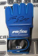 Bas Rutten Signed Replica Pride FC Fight Glove Beckett COA UFC Pancrase Auto'd