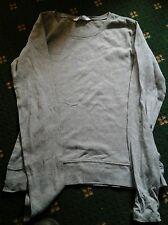 grey long sleeved top