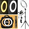 18'' LED SMD Ring Light Kit 5500K Dimmable Diva With Stand Continuous Lighting