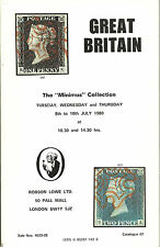 Catalogo asta Gran Bretagna il Minimus Collection 1980