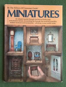 MIniatures by the Editors of Consumer Guide HC Book 1979 dollhouses shadow boxes