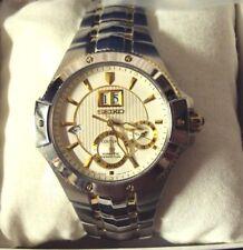 Mens Seiko SNP0008 Coutura Kinetic Perpetual Analog Stainless Steel Wrist Watch