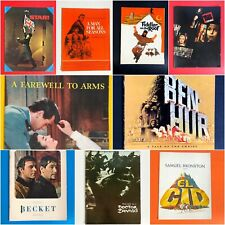 LOT OF 10 VINTAGE MOVIE MEMORABILIA CINEMA SOUVENIR PROGRAMS 50s + 60s